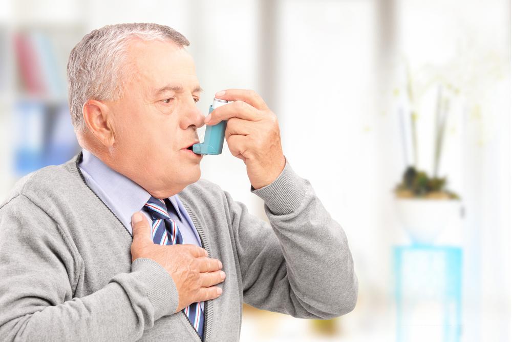 Asthma patient using rescue inhaler
